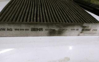 Замена салонного фильтра шкода рапид, c 2012 г.в.