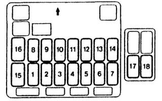 Предохранители и реле митсубиси галант 8, 1996 — 2005
