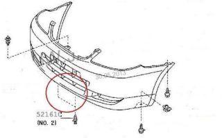 Снятие переднего бампера toyota corolla (е150)