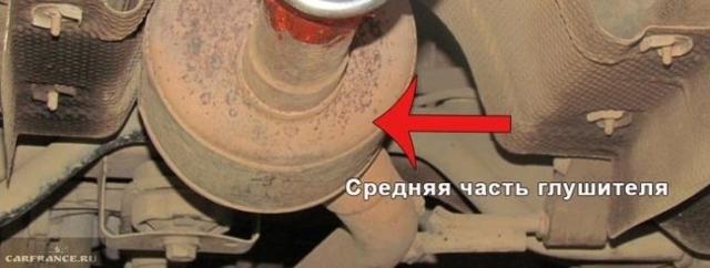 Замена элементов системы выпуска ОГ Рено Дастер