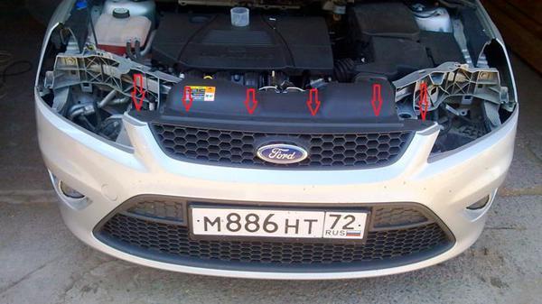 Задний бампер Форд Фокус 3: снятие и замена
