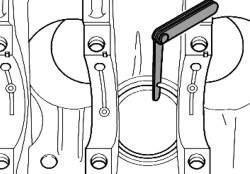 Проверка зазоров поршневых колец Volkswagen Passat B5