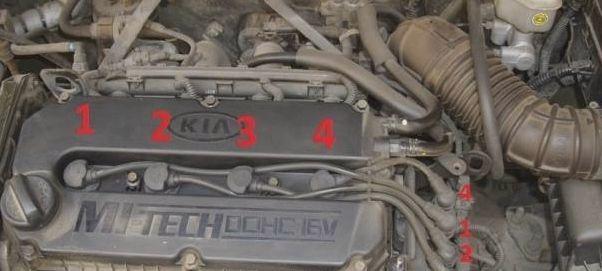 Двигатель 1.6 Киа Спектра 2