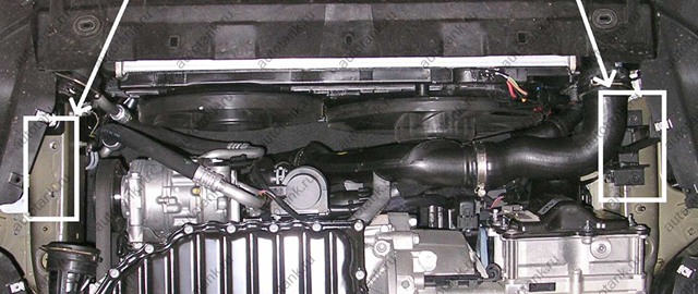 Снятие и установка защиты картера двигателя на Пассат Б6