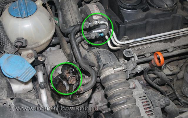 Замена ремня привода агрегатов на Пассат Б6