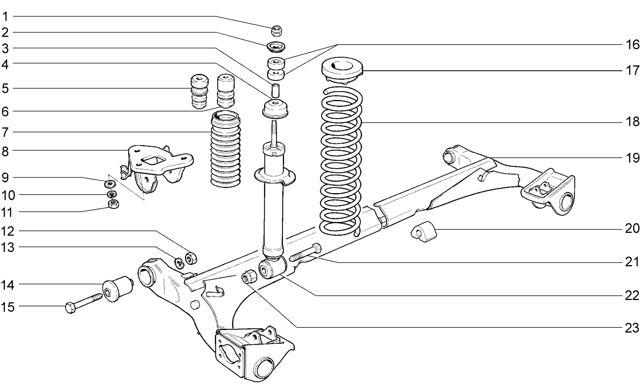 Задняя подвеска Лада Гранта (ВАЗ 2190)