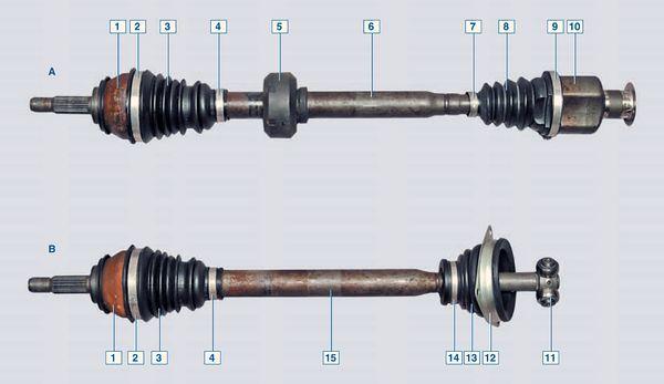 Замена приводов передних колес на Рено Логан 2