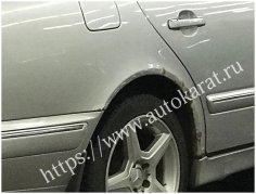 Радиатор Mercedes-Benz W210 c 1995 гг. - демонтаж