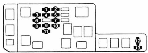 Предохранители и реле Тойота Корона Премио (T210)