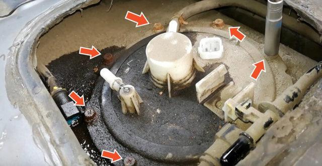 Замена топливного бака Киа Рио 3