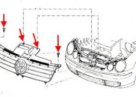 Замена переднего бампера Фольксваген Поло седан