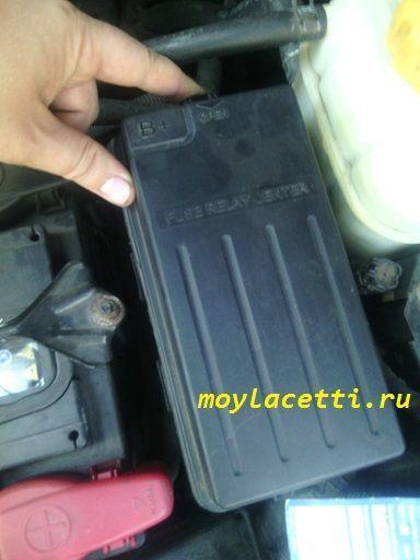 Замена топливного фильтра Шевроле Лачетти