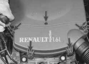 Замена воздушного фильтра на Рено Логан 2