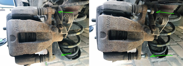Замена задних тормозных колодок Киа Рио 3
