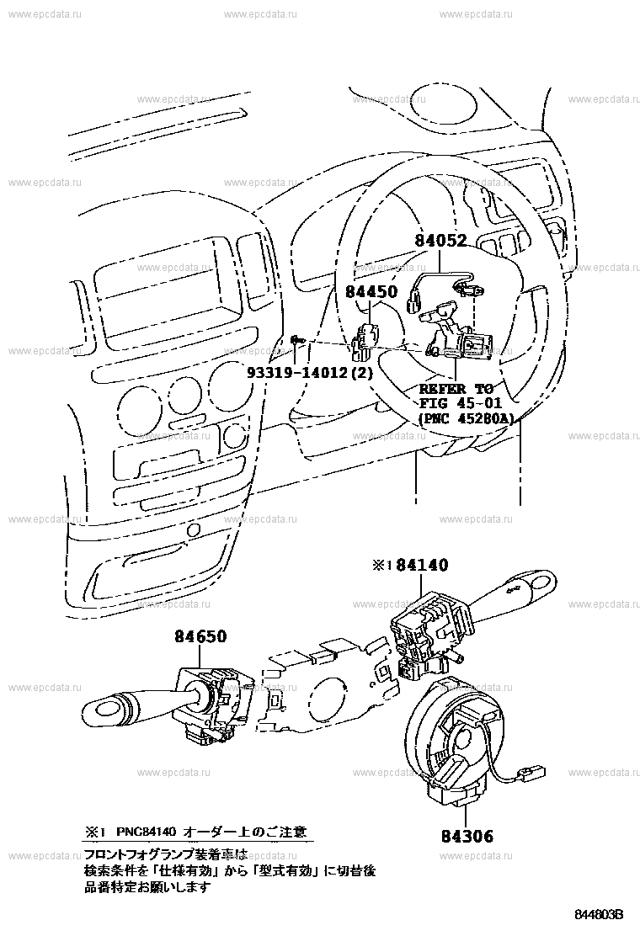 Предохранители и реле Тойота Пробокс, 2002 - 2019