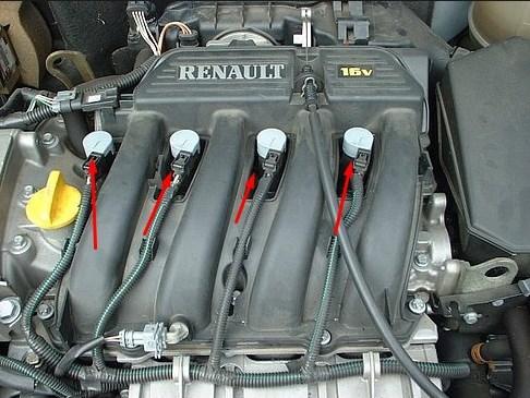 Свечи зажигания Renault Megane / Scenic 1999 - 2003 гг.