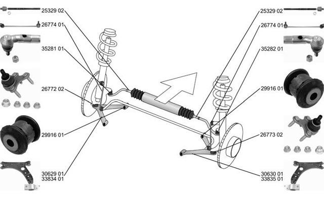 Передняя подвеска Шкода Октавия А5