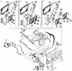 Система охлаждения Ниссан Альмера Классик Б10