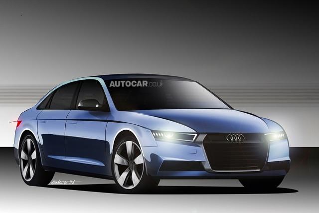 Audi A4 2016: первые шпионские фото