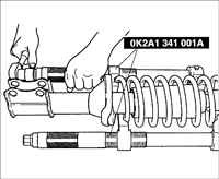 Замена поперечины передней подвески Киа Рио 3