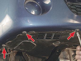 Замена переднего бампера на Рено Логан 2