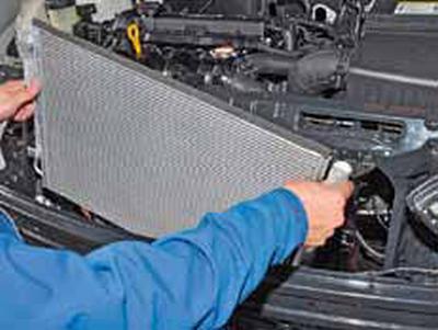 Замена радиатора кондиционера (конденсора) КИА Рио 3