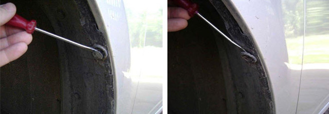 Брызговики и подкрылки колес Тойота Королла (Е150): снятие и установка