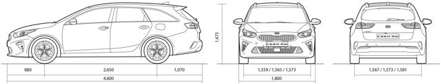 Технические характеристики Киа Сид 1 (ED)