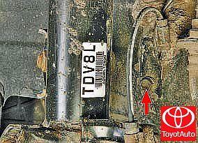 Замена дачтиков частоты вращения колес Тойота Королла (Е150)